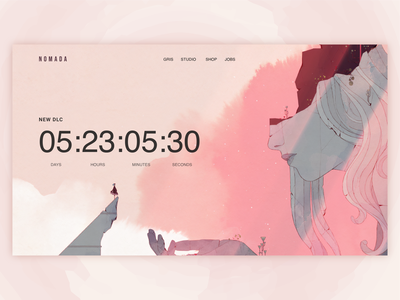 Countdown Timer game website design daily ui countdown timer uiux ui dailyui webdesign web design dailyuichallenge 014