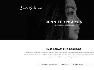 Photographer's Website logo typography branding web design ui ux design
