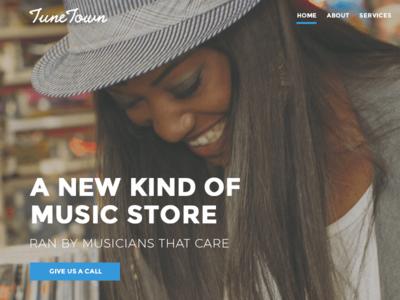 Music Shop Re-Design music ux ui design