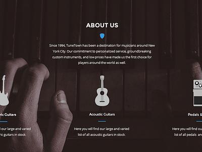 Music Shop Re-Design - Pt. 2 web design music