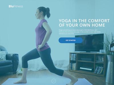 BluFitness Part 2: Yoga web design ui ux fitness