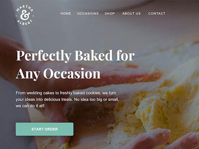 Bakery Site seo desserts cake wedding ux ui web design