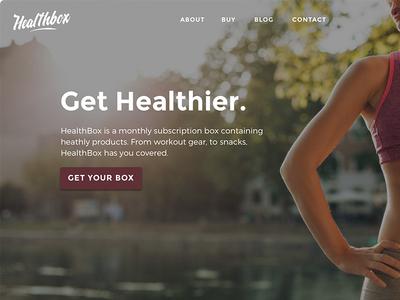 Healthbox gym healthy ux ui design yoga vegan fitness health