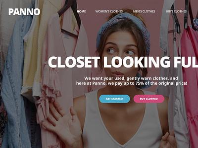Clothing Landing Page development branding web design ui ux design
