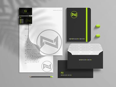 Identidade Visual Generación Seven design logo identidade de marca design grafico identidade visual marca tecnology