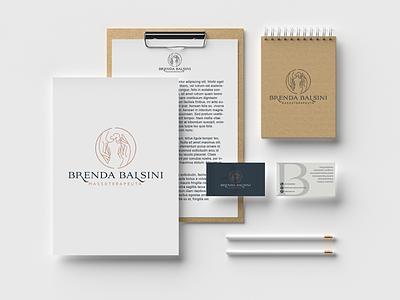 Brenda Balsini - Massoterapeuta design grafico logo identidade de marca identidade visual