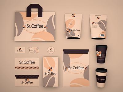 Sr. Coffee Identidade Visual design estudio de design vector marca logotype identidade visual identidade de marca design grafico
