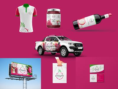 Logotipo desenvolvido para Pitayas Canaã designs vector branding design design grafico estudio de design marca illustration logo identidade visual