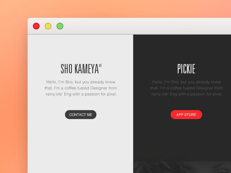 portofolio redesign simple redesign pc web portofolio flat