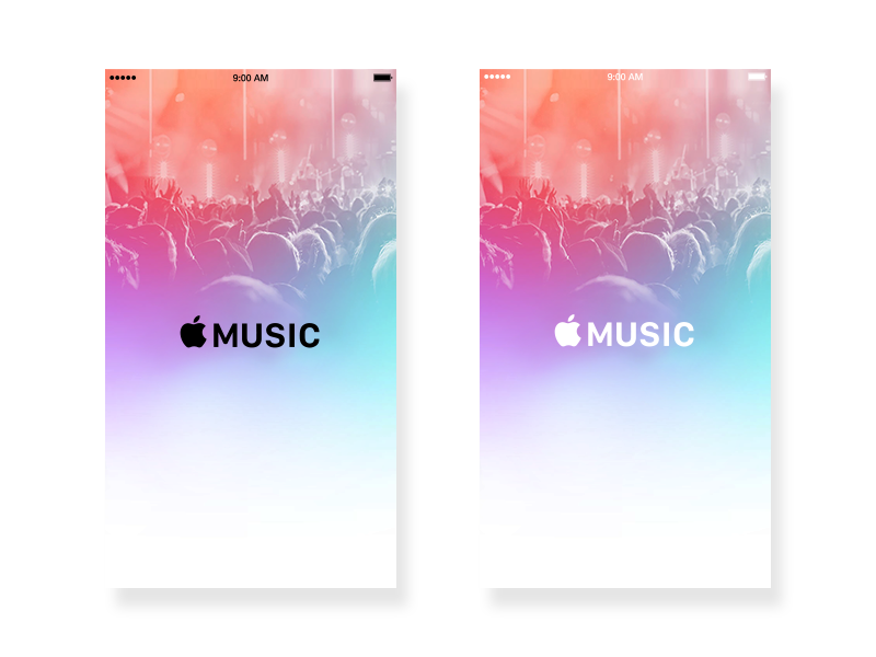 Which color do you like? logo applemusic ios