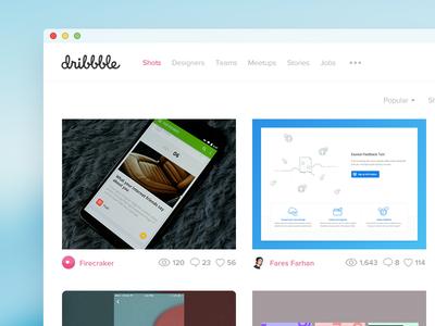 Dribbble Redesign