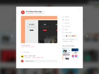 Dribbble modal redesign