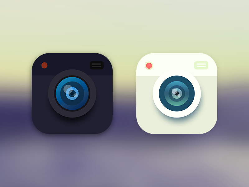 Camera Flat photo simple android ios app application launcher icon flat camera