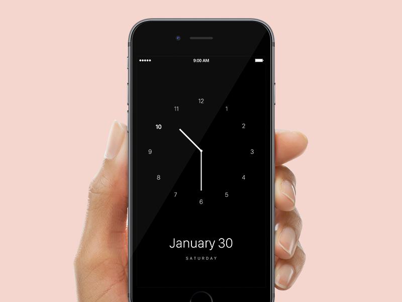 Clock Design design iphone flat application ios clock
