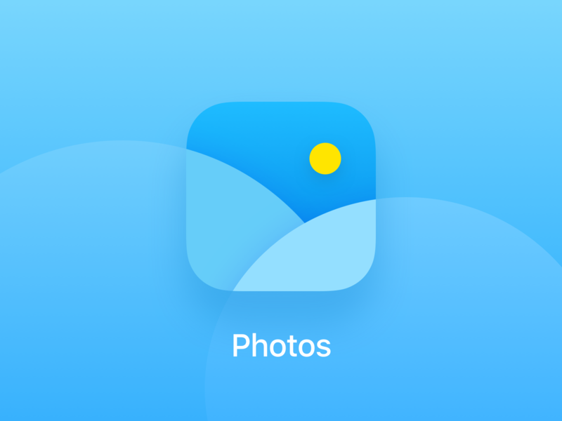 Photos application icon
