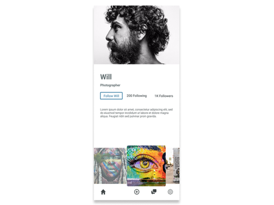 User Profile dailyui user profile