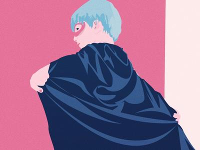 A hero was born - Minimal Illustration