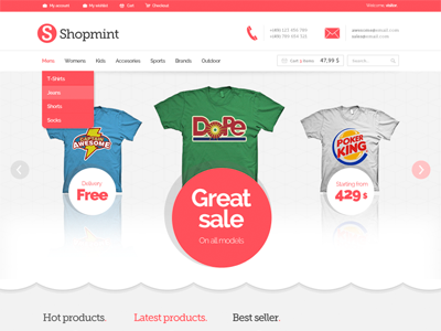 Shopmint PSD shopmint free psd files download