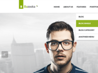 Bazooka Wordpress Free Psd Files