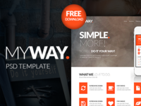 MyWay Free PSD Template