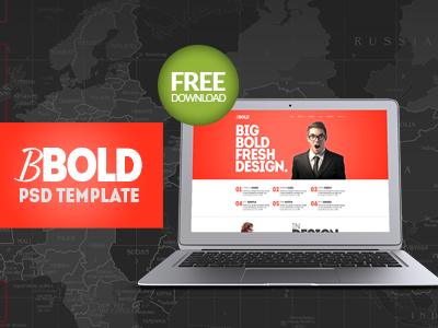 BBold - Free PSD Template bbold free bold psd template