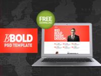BBold - Free PSD Template