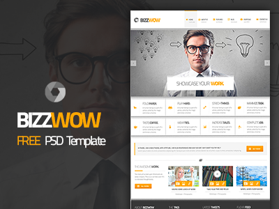BizzWow - Free PSD Template free psd template business corporate download
