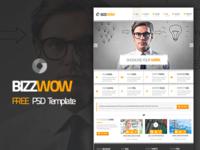 BizzWow - Free PSD Template