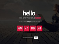 Free Comin Soon Html Template [PSD included]