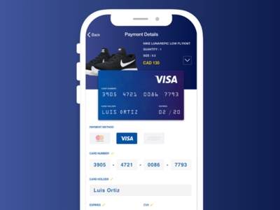 Daily002 - Credit Card ui payment shoes shop nike creditcard dailyui