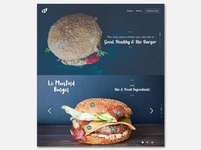 Daily003 - Landing Page ui food bioburger landingpage dailyui