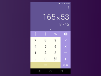 Daily004 - Calculator ui purple numbers calculator dailyui