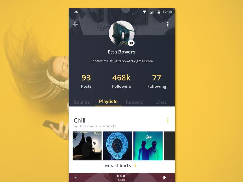 Daily006 - User Profile ui profile music soundcloud userprofile dailyui