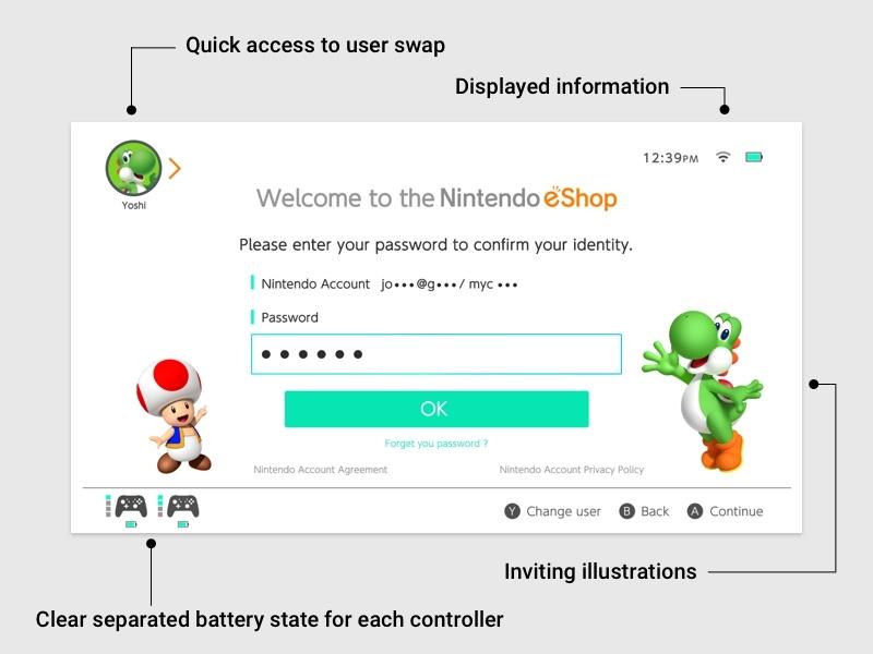 Nintendo Switch - Eshop game interface case study shop problem resolve ux ui nintendo switch