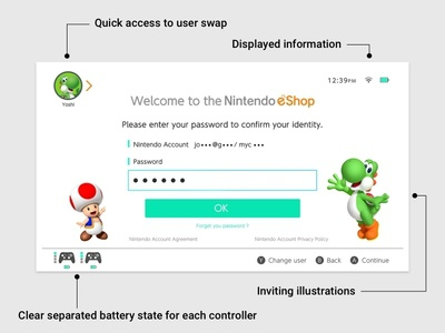 Nintendo Switch - Eshop game interface case study shop problem resolve ux ui nintendo switch