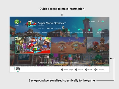 Nintendo Switch - eShop Game mario ux ui shop resolve problem nintendo switch interface game case study