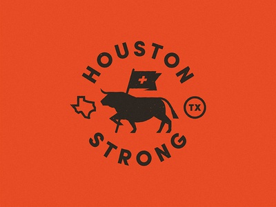 Houston Strong texas medic relief hurricane houston bull
