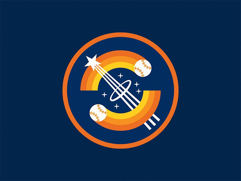Go 'Stros! houston astros patch badge shooting star space star baseball