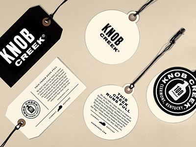 Knob Creek Tags logo typography whiskey knob creek branding tag