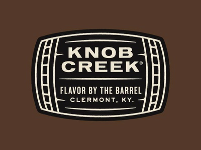 Flavor by the Barrel typography whiskey knob creek branding logo patch badge barrel