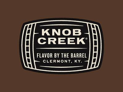 Flavor by the Barrel typography whiskey knob creek branding logo patch badge barrel