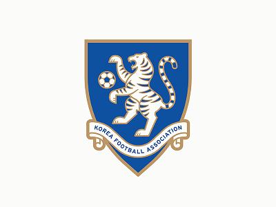 KFA tiger logo crest badge soccer korea