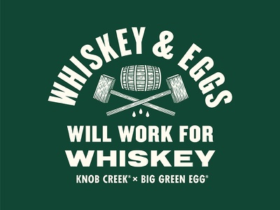 Will Work for Whiskey knob creek bourbon bung whiskey barrel