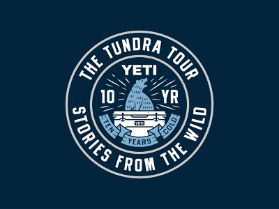 The Tundra Tour anniversary cold bear logo badge cooler yeti