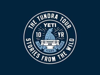 The Tundra Tour anniversary cold bear logo badge cooler yeti