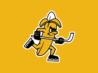 Bad Banana Boys bad jersey banana illustration mascot hockey