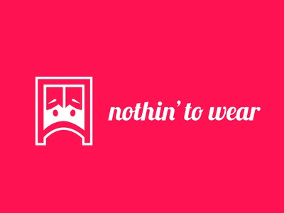 Logodesign - nothin' to wear icondesign logodesign app ios android logo corporate design