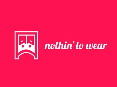 Logodesign - nothin' to wear icondesign logodesign app ios android logo corporate design