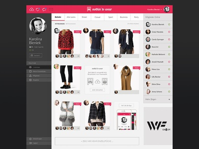 Social Fashion StartUp Community - NTW - Webdesign android interface design homepage community social app ios foremnik webdesign
