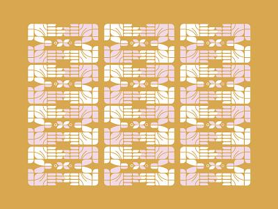 Hands and flowers motif peaceful color mustard flower hands retro vintage pattern
